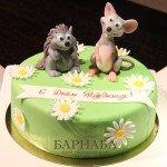 """Торт """"Ёжик и мышонок"""""""