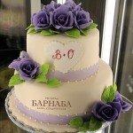 """Свадебный торт """"Розы верности"""""""