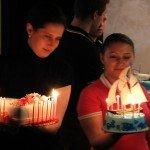Тортики для внуков от юбиляра