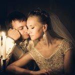 Памятное фото жениха и невесты